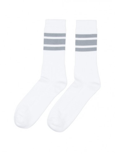 Casual sport blanco bandas grises