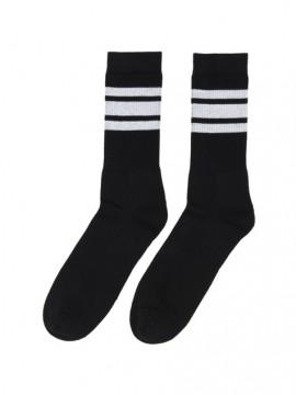 Casual sport negro bandas blancas