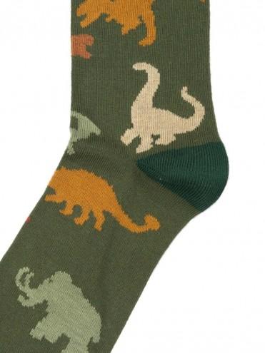 GREEN DINOSAUR SOCKS