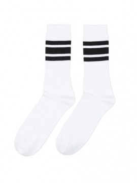 Casual sport blanco bandas negro