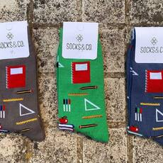 La vuelta al cole  #libreta #boligrafo #compas #calcetinesmolones @socksandco tu marca de calcetines